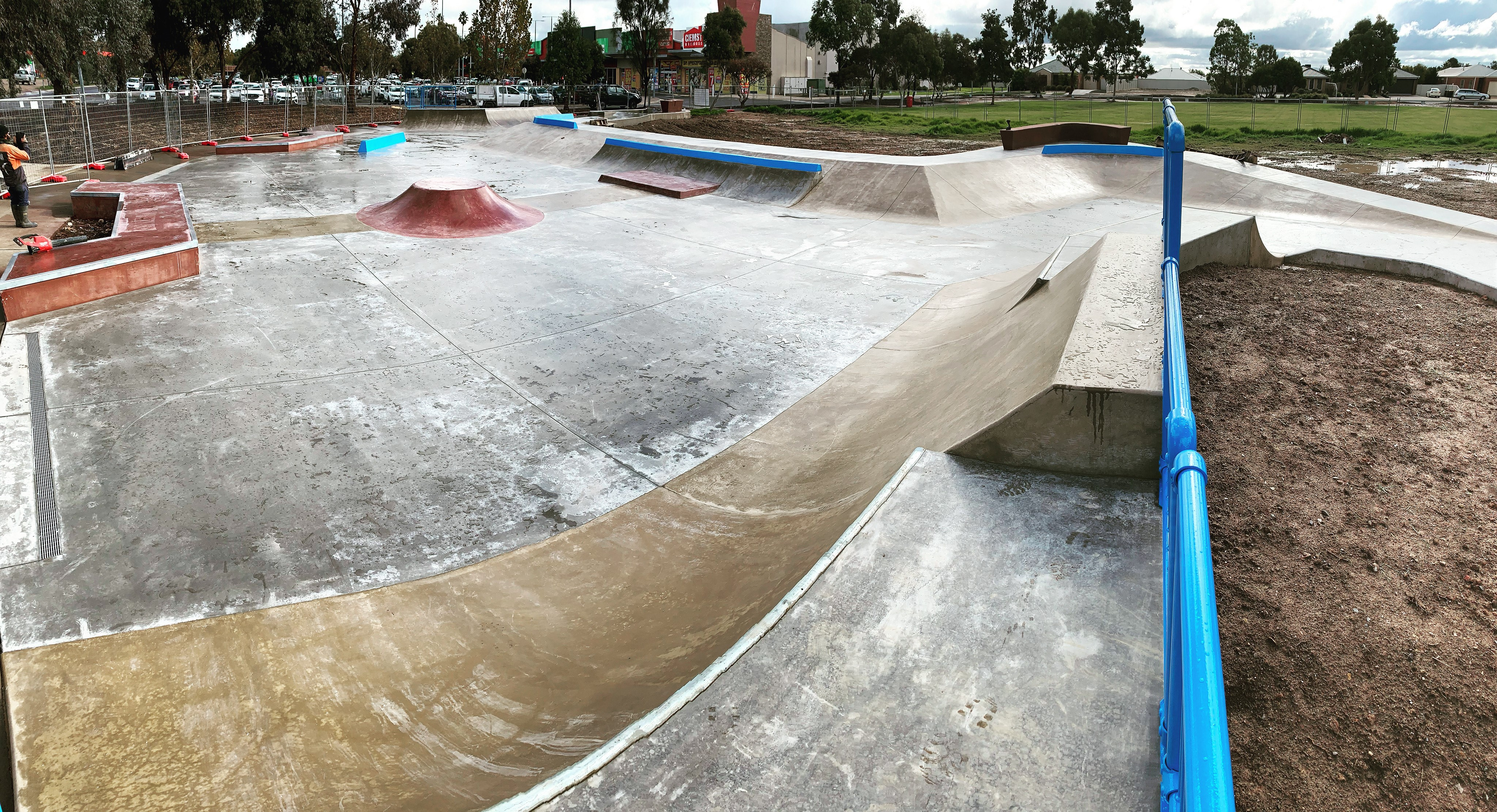 Skate park in construction by Drover Projects